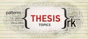 latest thesis topics